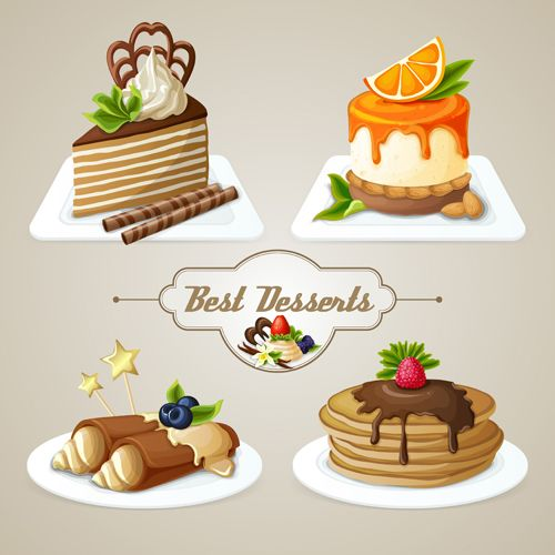 Best desserts vector icons graphics 02 - Food Icons free download