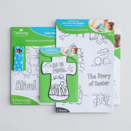Religious Easter Craft Activity Set Kids