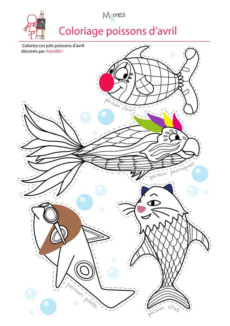 Les 25 meilleures id es de la cat gorie poisson d avril - Coloriage avril ...