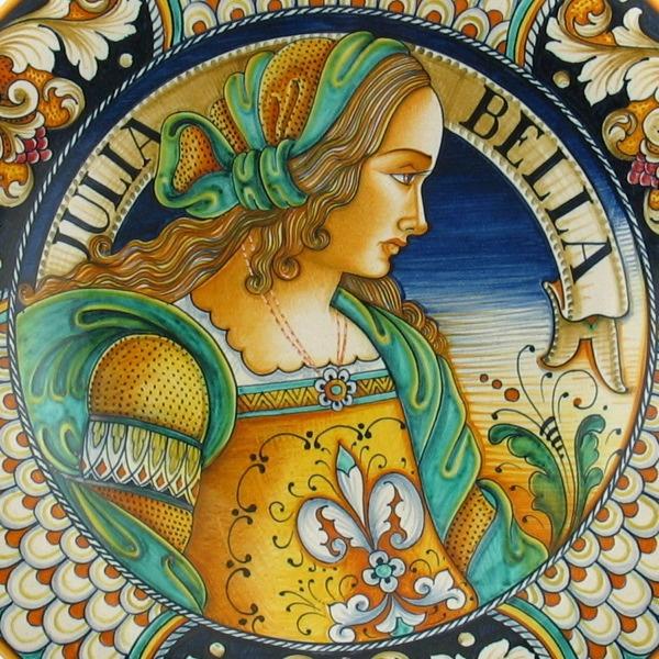 Deruta ceramics, Deruta pottery, Deruta dinnerware.
