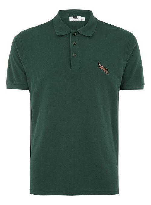 Green Leopard Polo - Shirts - Clothing - TOPMAN USA