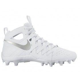 #LacrosseUnlimited #Nike Huarache 5 Lacrosse Cleats White