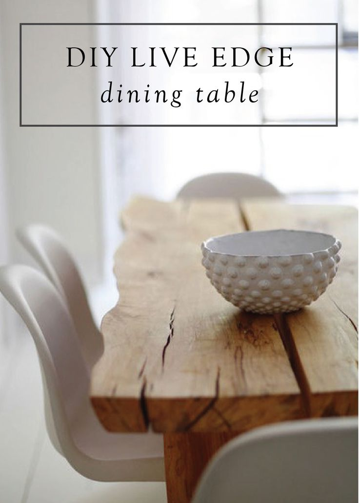Get the incredible, magazine-worthy look of this dining room with reclaimed wood! Check out this DIY Live Edge Table project.