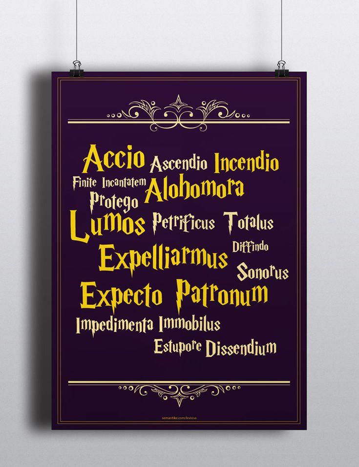 Poster Feitiços de Harry Potter para download