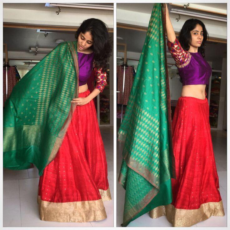Lehenga choli with Banarasi silk dupatta