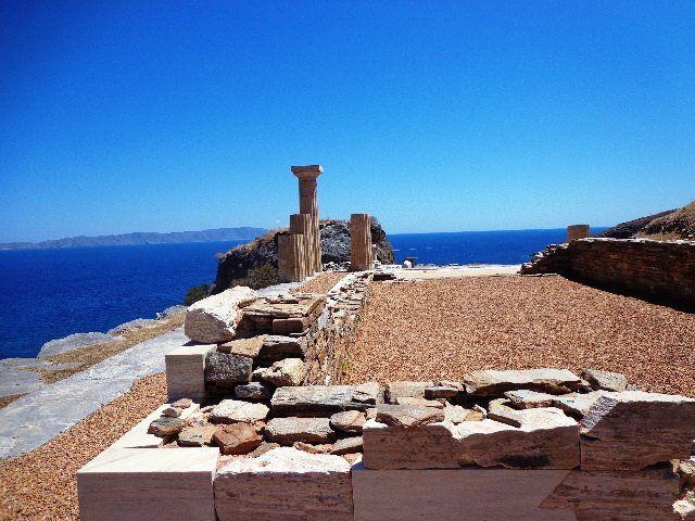 Ancient Karthea in Kea island, Tzia,Cyclades,Greece,Hellas,Summer in Greece,Travel in Greece