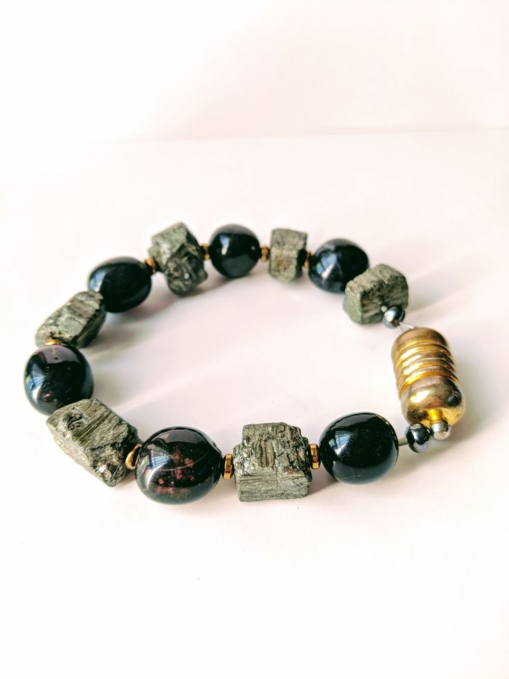 Men's Pyrite Strength Bracelet