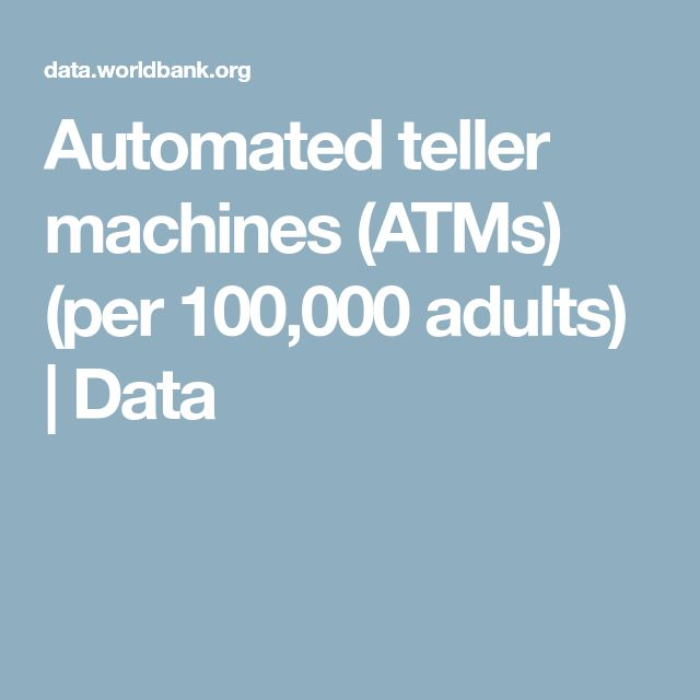 Automated teller machines (ATMs) (per 100,000 adults) | Data