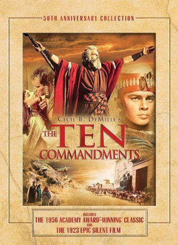 2/13/14 12:59p  Paramount Pictures ''The Ten Commandments''  The Egyptian Prince, Moses, learns of his true heritage as a Hebrew and his divine mission as the deliverer of his people. (220 mins.) Director: Cecil B. de Mille Stars: Charlton Heston, Yul Brynner, Anne Baxter, Edward G. Robinson  1956