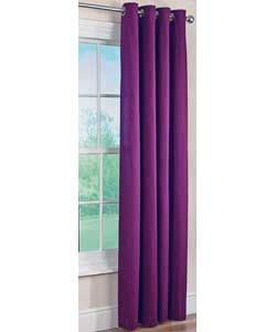 ColourMatch Lima Ring Top Curtains - 117x137cm Purple Fizz.