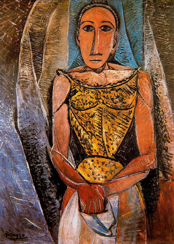 'Woman with Yellow Shirt' (1907) by Pablo Picasso -- When you think it is more than 100 years old, and it has not aged one bit! It is still so modern and contemporary.