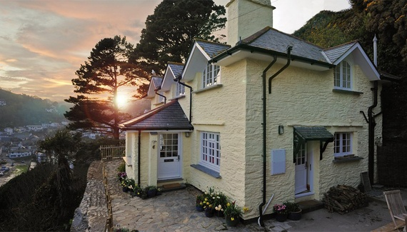 Tycara, a self-catering in Polperro, Cornwall, England. Up a steep path from pretty Polperro (your luggage is taken by quad bike) is this luxurious 1930s cottage with enticing sea views. http://www.sawdays.co.uk/self-catering/britain/england/cornwall/tycara #sawdays