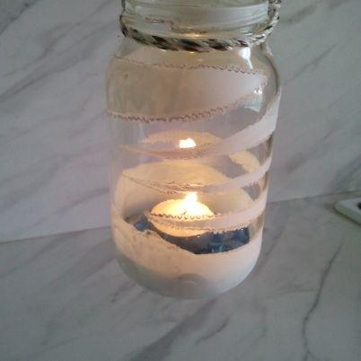 Making a Glass Jar Candle Holder