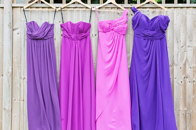 An bright urban glamour themed wedding photoshoot at Sanctum on the Green • Wedding Ideas. Ombre Similar colored Bridesmaids Dresses!