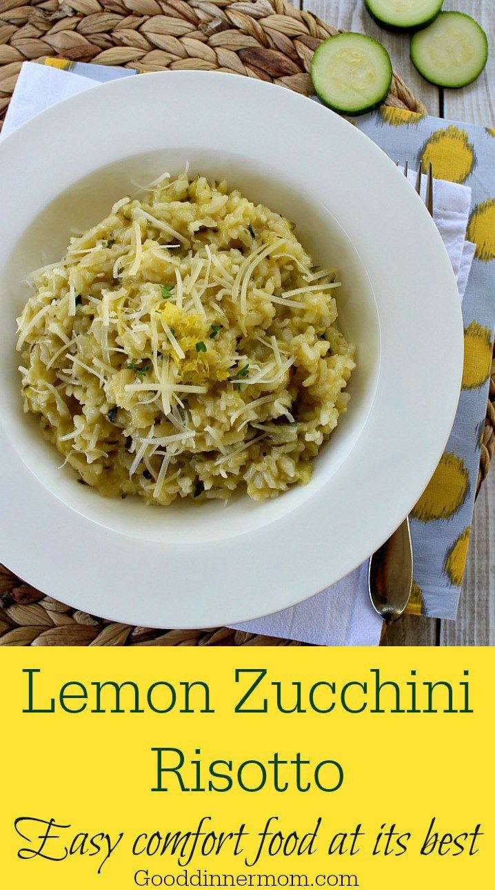 Lemon Zucchini Risotto. Evt met extra ham / kip