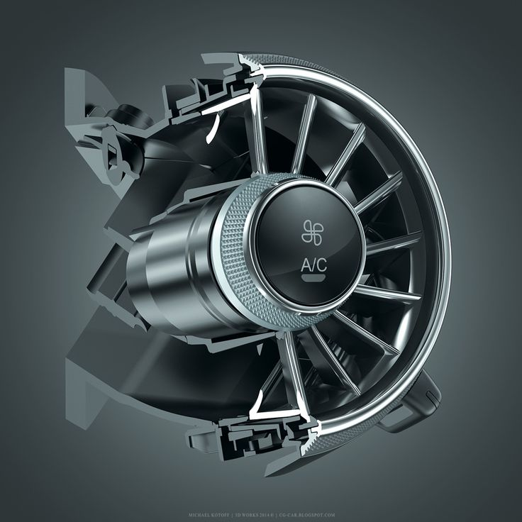 3D CGI | New Audi TT air conditioning part on Behance