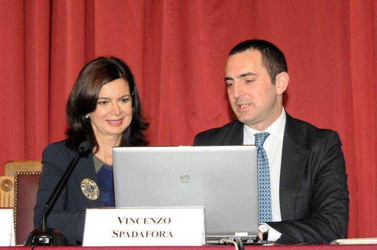 Il Presidente Spadafora e la Presidente Boldrini fanno il primo click al nuovo portale dell'Authority