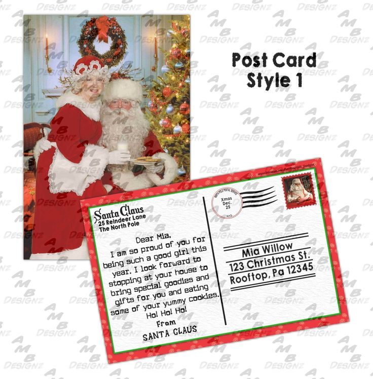 Best Christmas Cards  Letter From Santa Images On