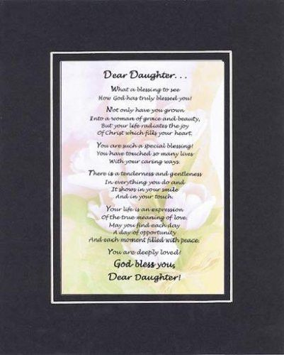Heartfelt Plaque For Daughters On 11 X 14