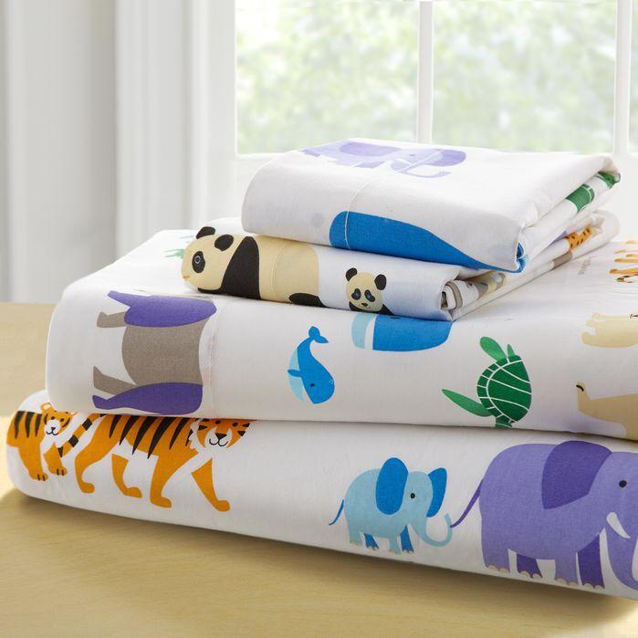 olive kids endangered animals 210 thread count 100 cotton sheet set