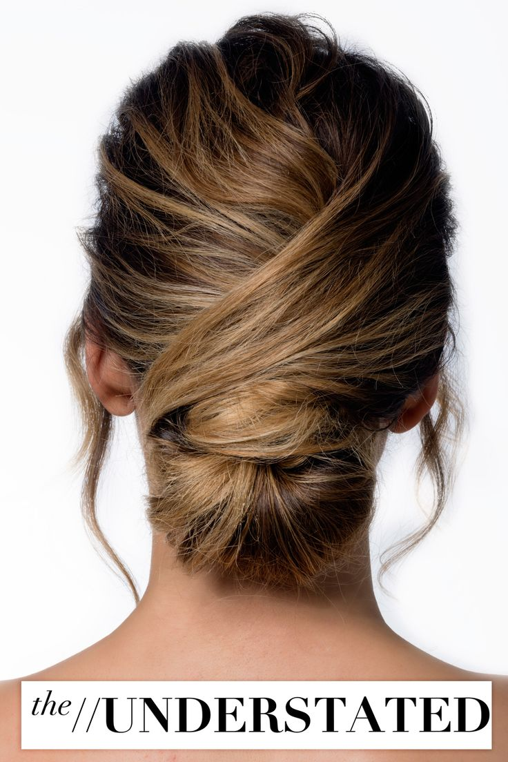 Understated hair styling updo