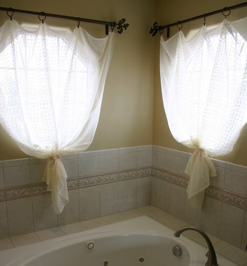 Octagon Window Covering Bathroom Pinterest Lace