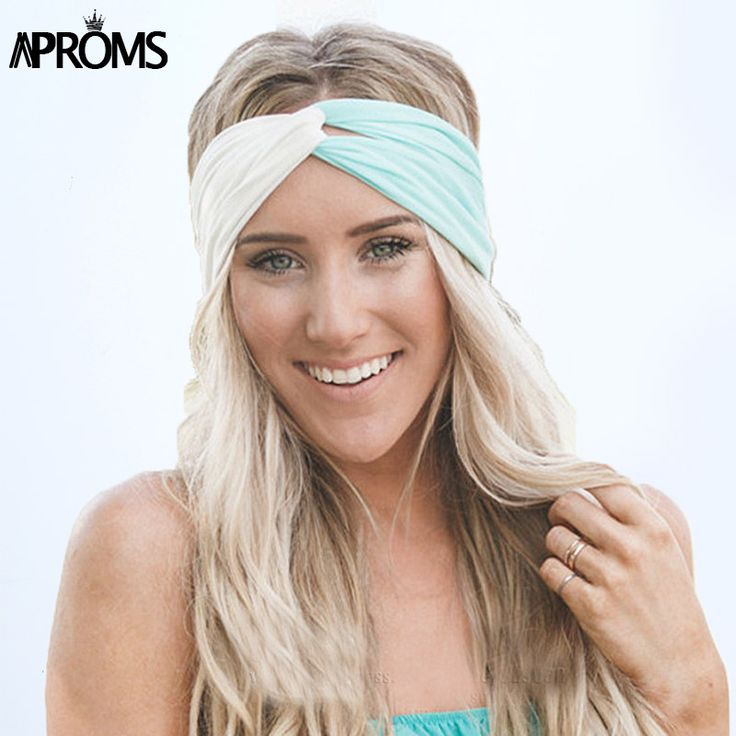 Twist Turban Headband for Women Hair Accessories Stretch Hairbands Girls Headwear Sport Headbands Yoga Head Wrap Band Bandana