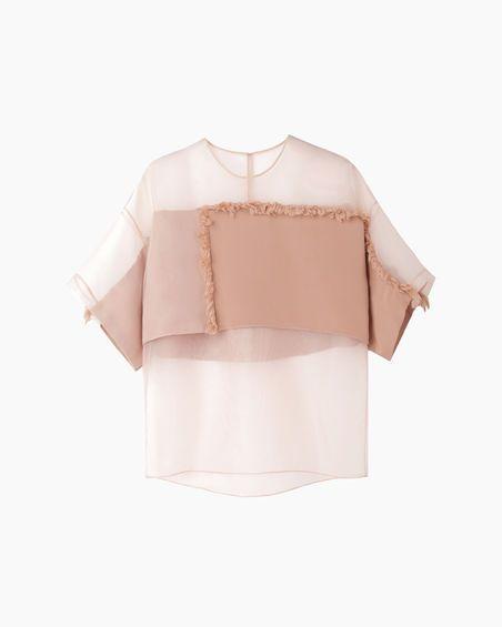 3.1 Phillip Lim organza fringe blouse