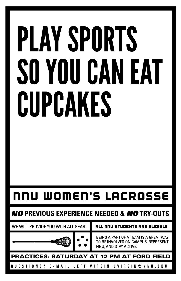 Poster design needed - Women S Lacrosse Poster For Northwest Nazarene University Mission Brave Design