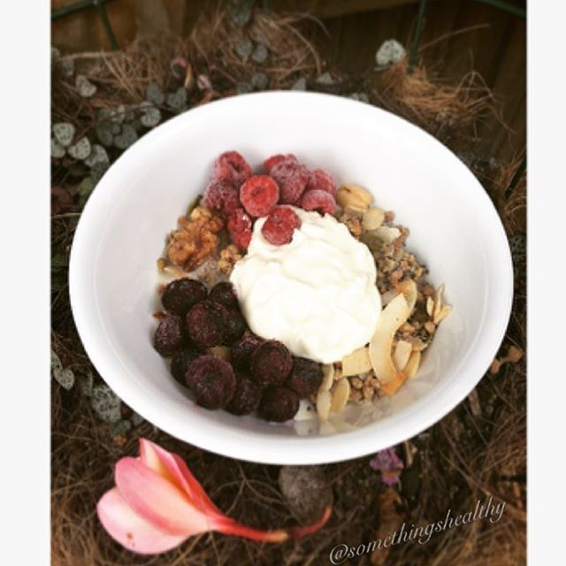 Delicious Grain Free Granola for breakfast topped with… via @feedfeed on https://thefeedfeed.com/somethingshealthy/3890820