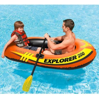 Amazon: Intex Explorer 200, 2-Person Inflatable Boat Set with French Oars and Mini Air Pump ONLY $11.63 + More – Today ONLY!