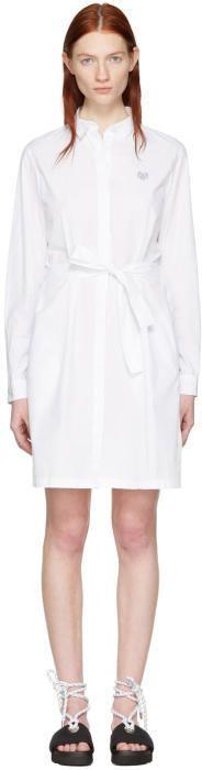 Kenzo White Tiger Shirt Dress