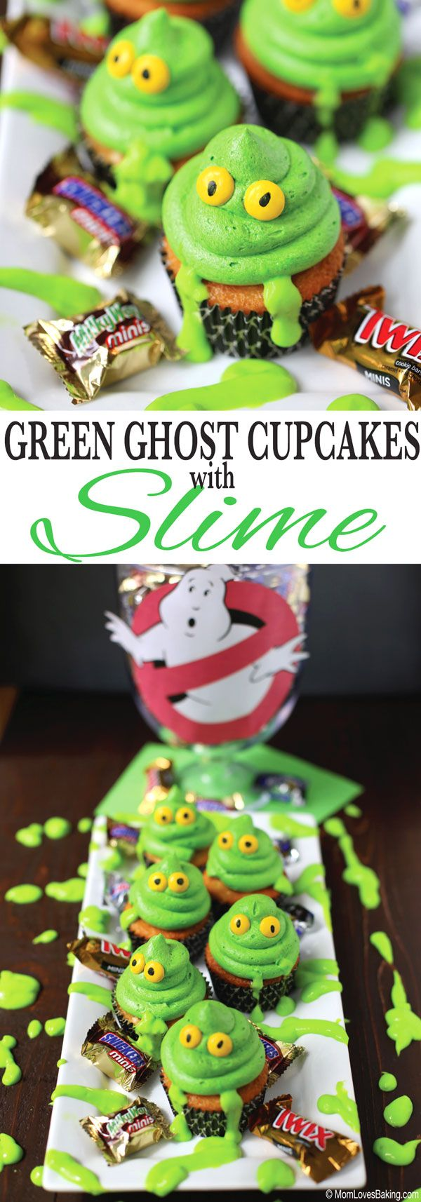 Ghostbusters is in theaters now! How about some Green Ghost Cupcakes with Slime! #BTSSpirit #ad @walmart