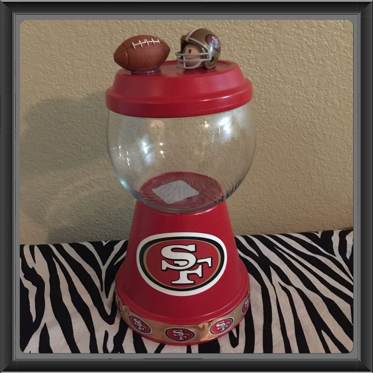 49ers candy jar 20 my creations pinterest jars candy jars and candy. Black Bedroom Furniture Sets. Home Design Ideas