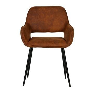 De stoelen van de vorige foto. Lederlook, geen echt leer dus :)