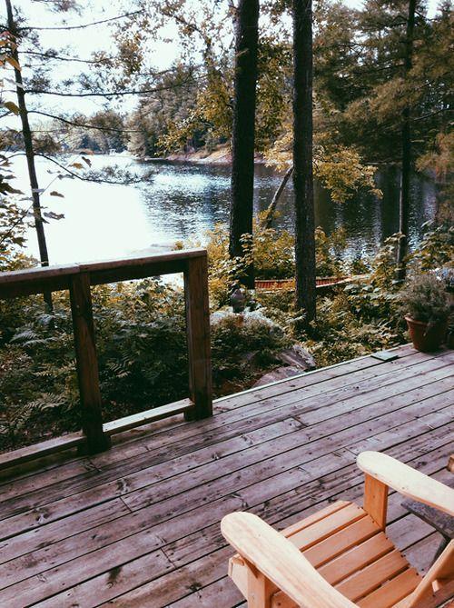 Aquiet Cottage Life | Cottage terrace.