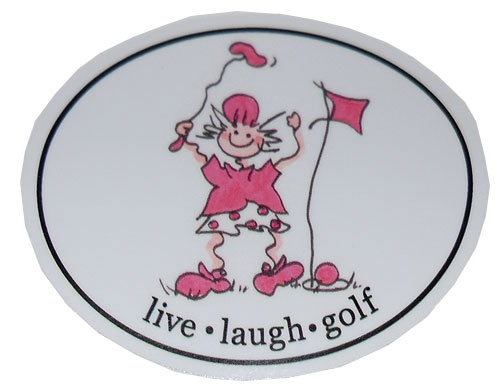 Golf Gals Stickers - Putter Gal - Live, Laugh, Golf   © 2007 Lori's Golf Shoppe. All Rights reserved.