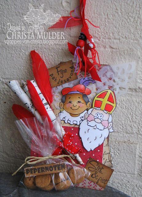 Christa's Scrappies: Sint en Piet Tag
