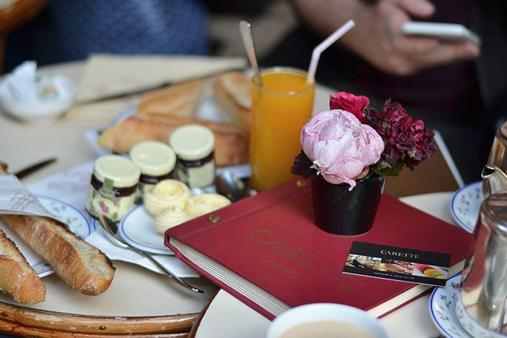 Breakfast at carette in Paris