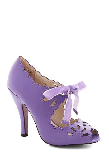 Dainty Dramaturge Heel in Lavender, #ModCloth -- If these matched my Vera Wang dress I would be in heaven!