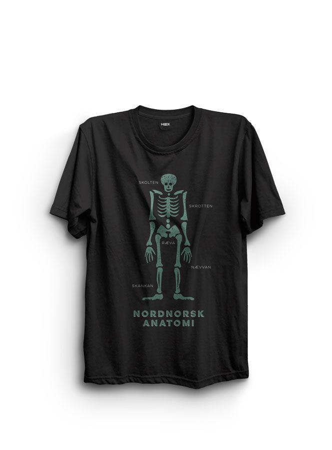 Nordnorsk anatomi, #heksekunst #hæx #t-shirt, #northernnorway #arctic #art