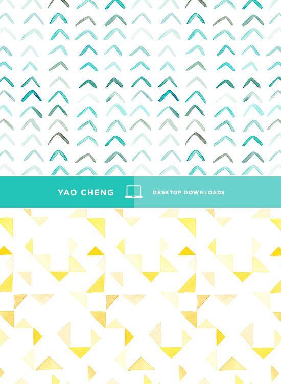 HAPPY DESKTOP, beautiful watercoloured desktop patterns for your computer.