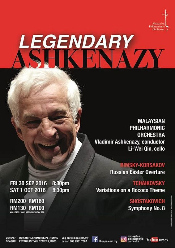 MAESTRO ASHKENAZY RETURNS TO THE PODIUM  AT DEWAN FILHARMONIK PETRONAS!