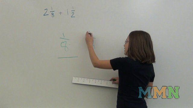 Adding Mixed number fractions explained by kids for kids using two different methods.