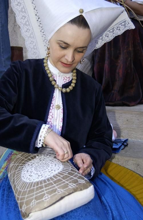 Pag lace - and national costume - Island of Pag - northern Adriatic - Croatia