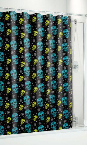 Sugar Skull shower curtain $20  www.deadrockers.net  sugar skull housewares, unique home decor