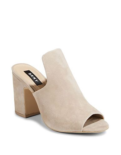 DKNY Hester Open Toe Leather Mules. Possibility with my clogs (will need to  cut that shape) will also help fit better d06f21f972e2