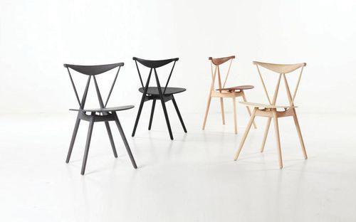 Chaise design scandinave / en cuir / en bois / à usage professionnel PIANO by Vilhelrn Wohlert STELLAR WORKS