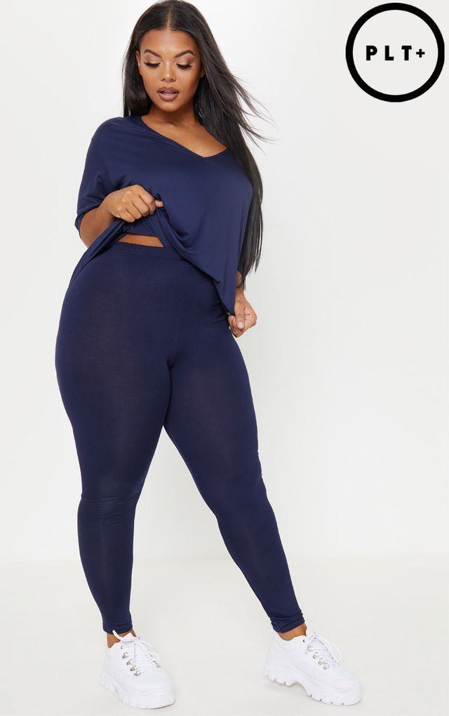 0e5915ad Plus Navy Basic Leggings | BIG girl fineee in 2019 | Plus size ...