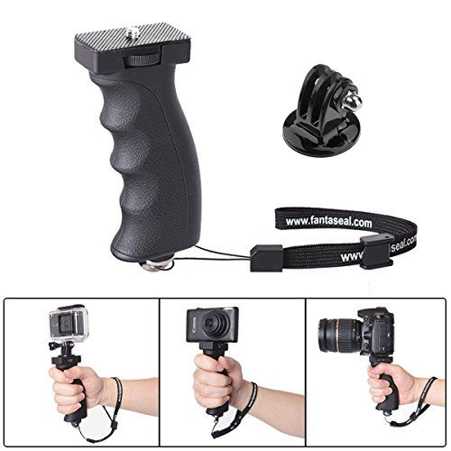 Fantaseal Ergonomic Camera Grip Mount for Nikon Canon Sony DSLR Camera Camcorder  GoPro Hero5 /4/3/Session Sony Garmin Virb Xiaomi Yi SJCAM Action Camera Hand Grip Stabilizer Handle Support Holder